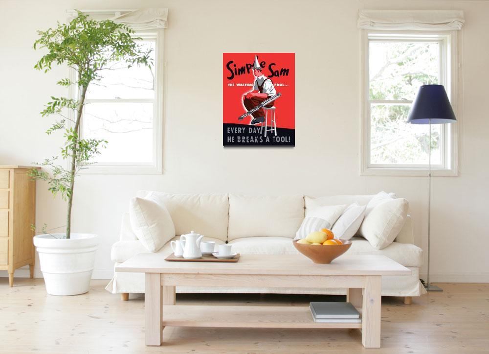 """Digitally restored vector war propaganda poster. S&quot  by stocktrekimages"