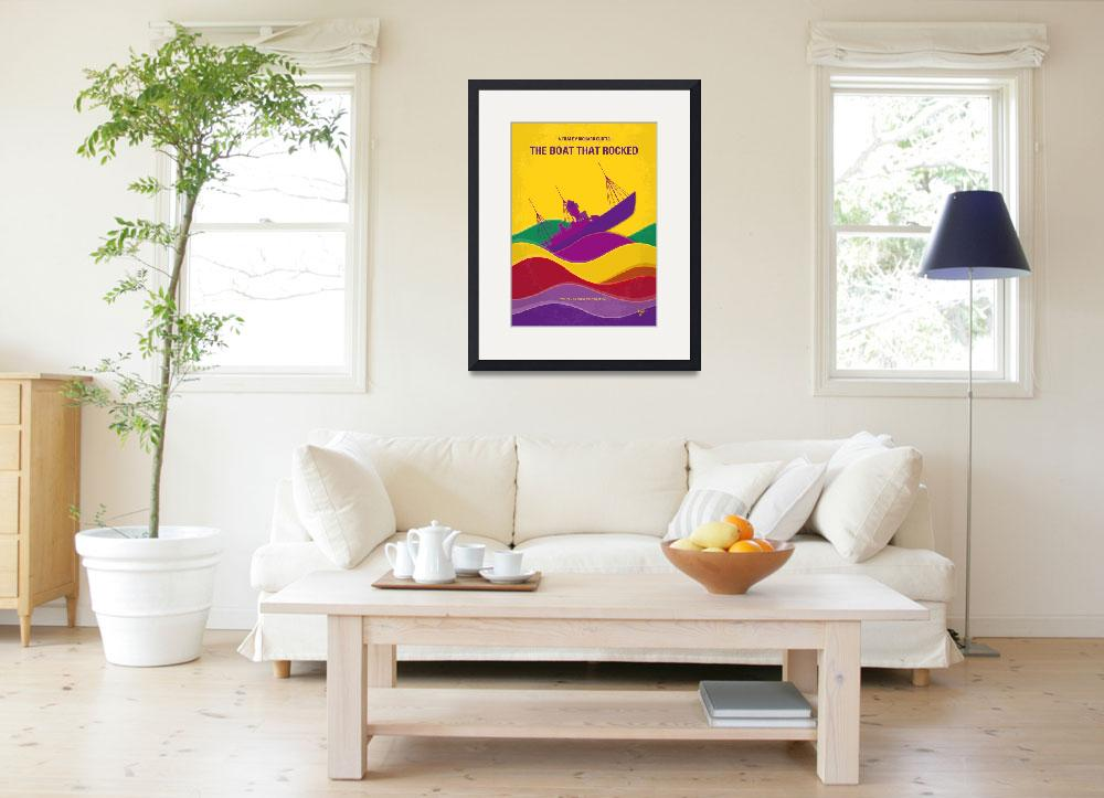 """""""No961 My The boat that rocked minimal movie poster&quot  by Chungkong"""