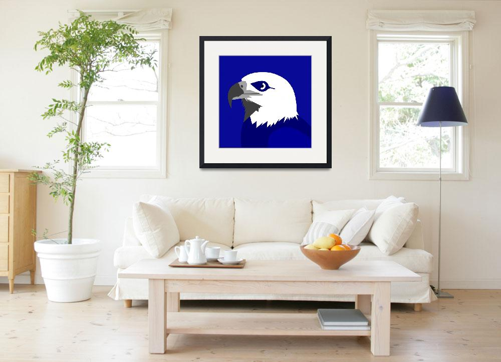 """""""American Eagle or Bald Eagle is the national bird&quot  by Lonvig"""