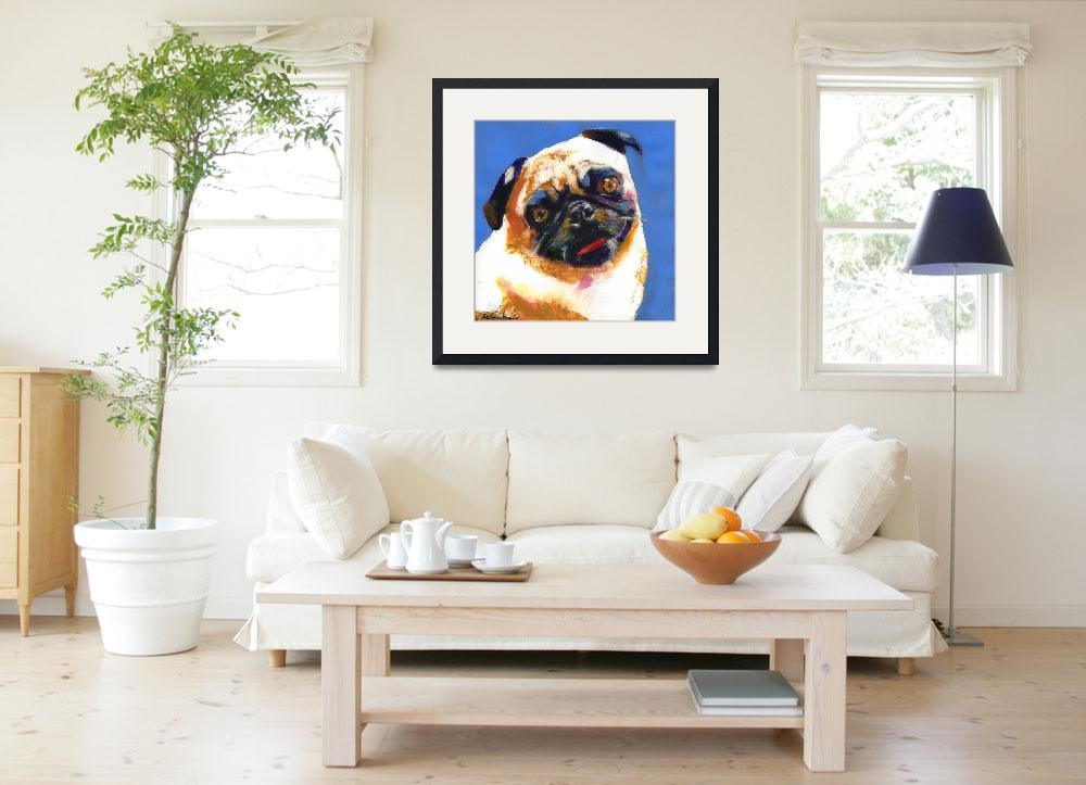 """Pug Blueboy large style painting&quot  (2005) by RDRiccoboni"