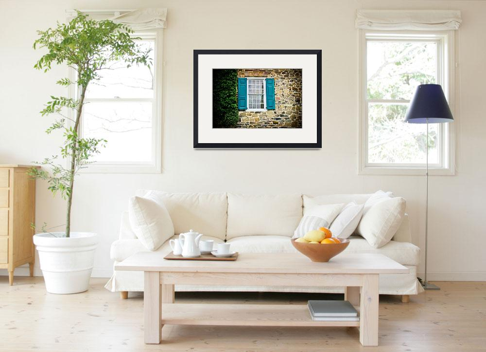 """""""Turquoise Shutters&quot  (2013) by ColleenKammerer"""