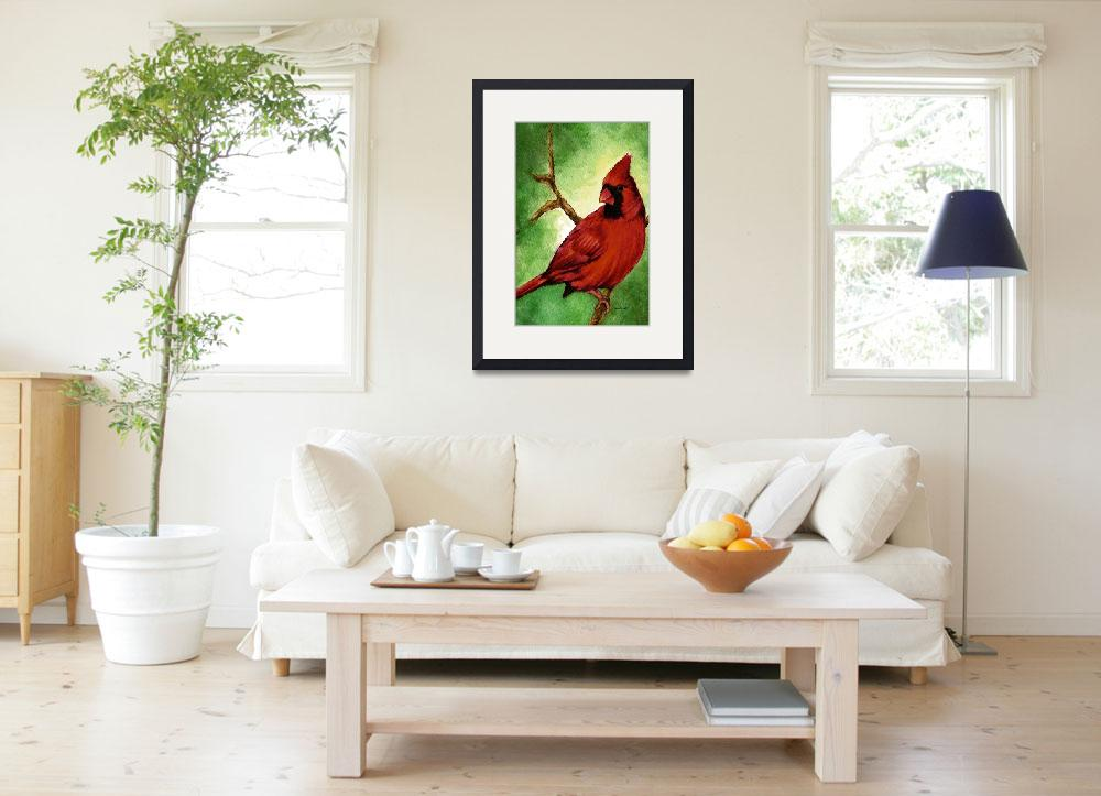 """""""Red Cardinal&quot  (2007) by Nanwright"""