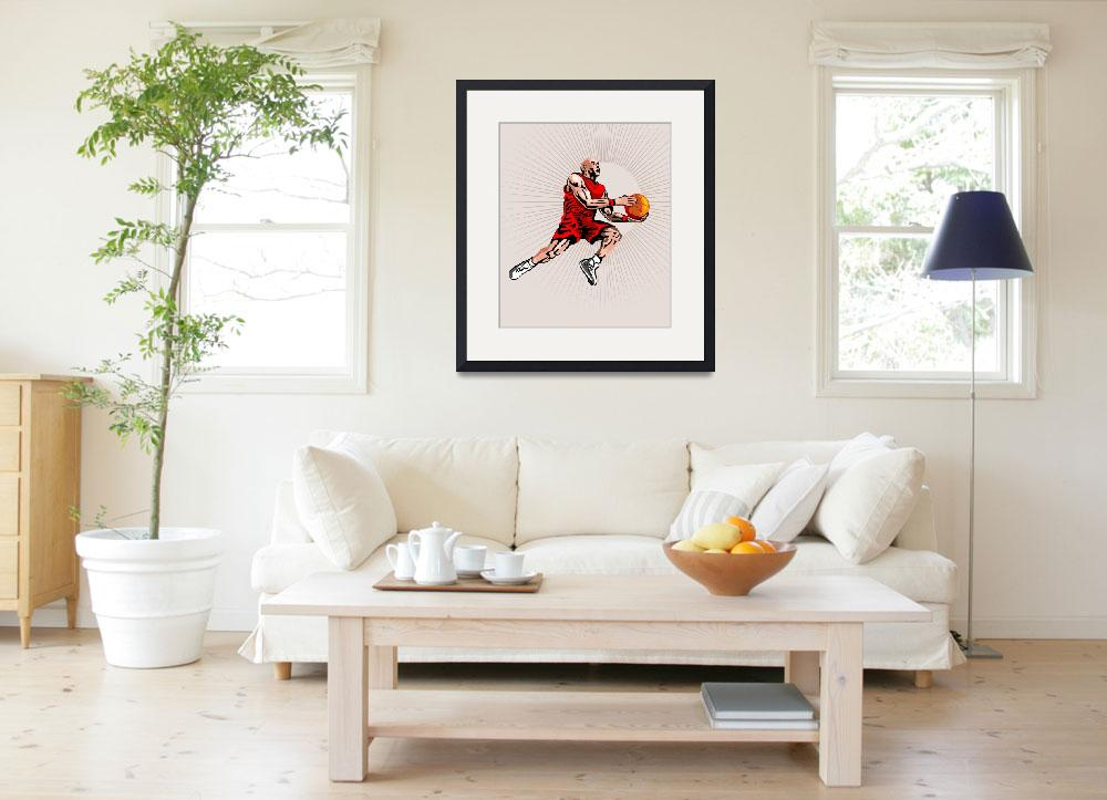 """Basketball Player Jumping&quot  (2013) by patrimonio"