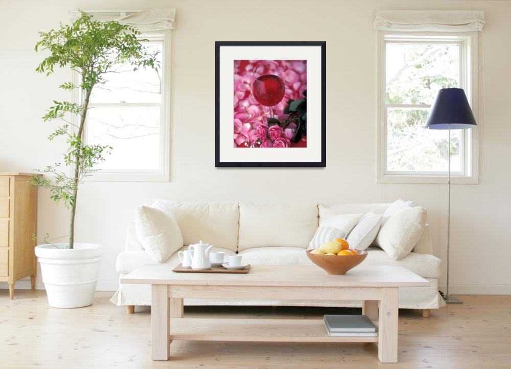 """""""Rosé and Roses&quot  by winecountrycreations"""