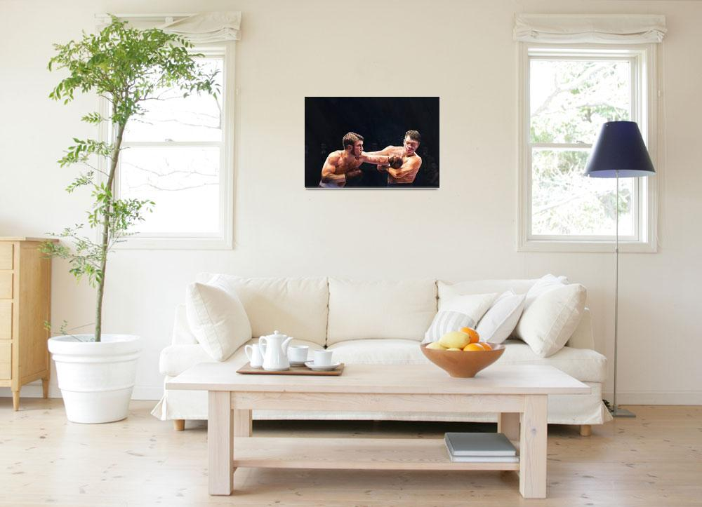 """""""Theodore Roosevelt as a young man boxing&quot  by fineartmasters"""