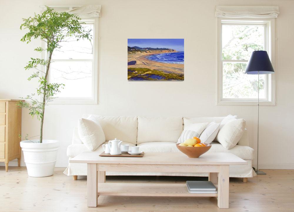 """California Beach: Half Moon Bay&quot  (2007) by KeatingArt"
