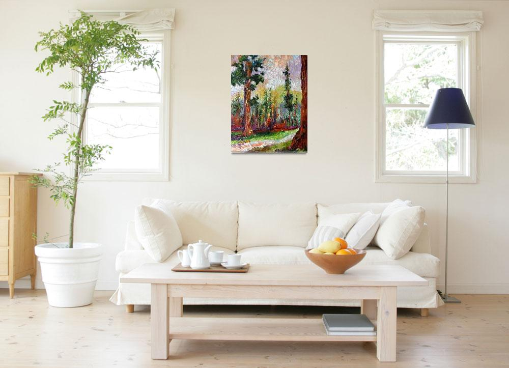 """""""Sequoia Original Impressionist Oil Painting by Gin""""  (2009) by GinetteCallaway"""
