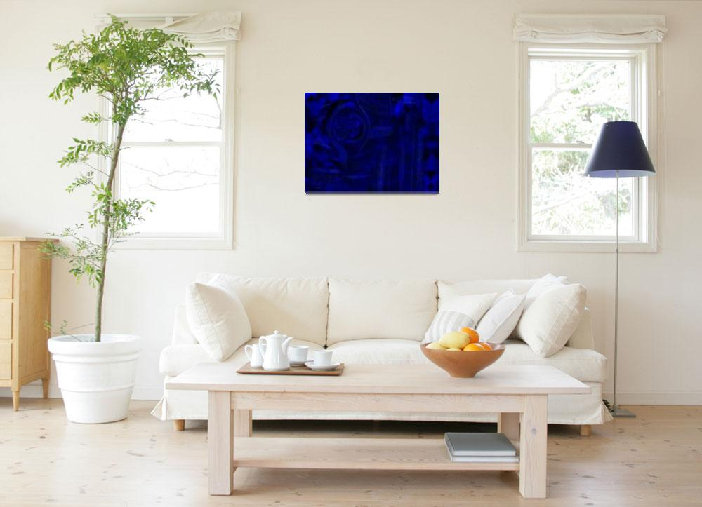 """""""polar blue abstract&quot  (2008) by shanmaree"""