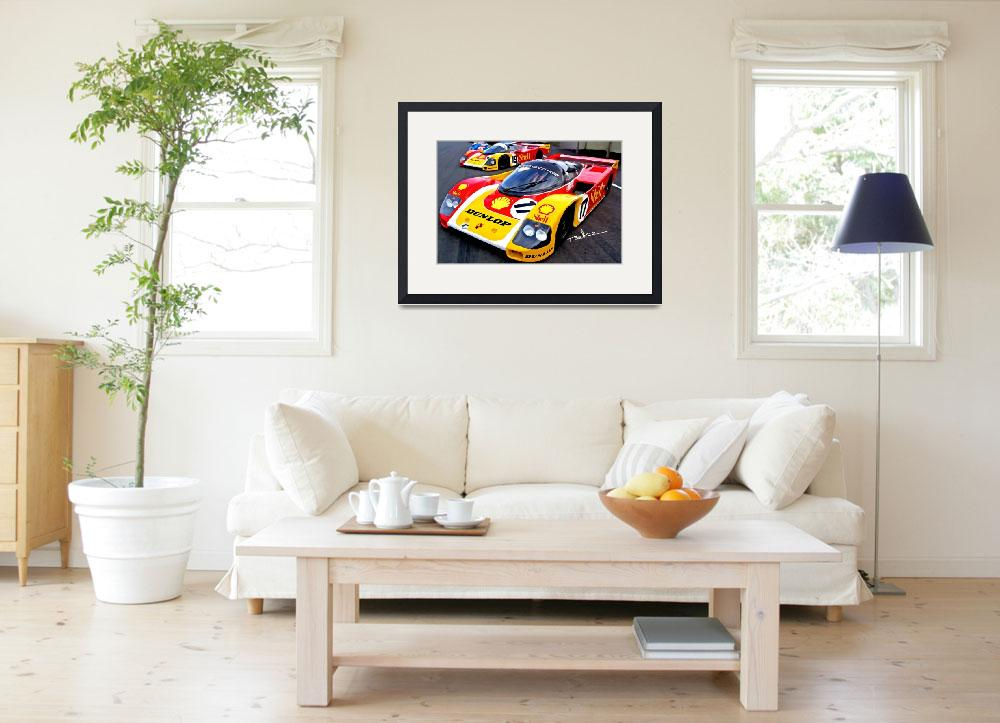 """""""Porsche 962, """"Lets get ready to rumble""""""""  (2009) by ArtbySachse"""
