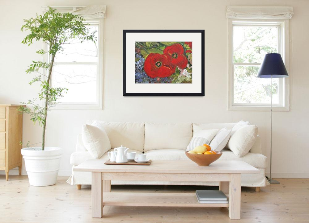 """""""Two Poppies&quot  (2011) by DreamGallery"""