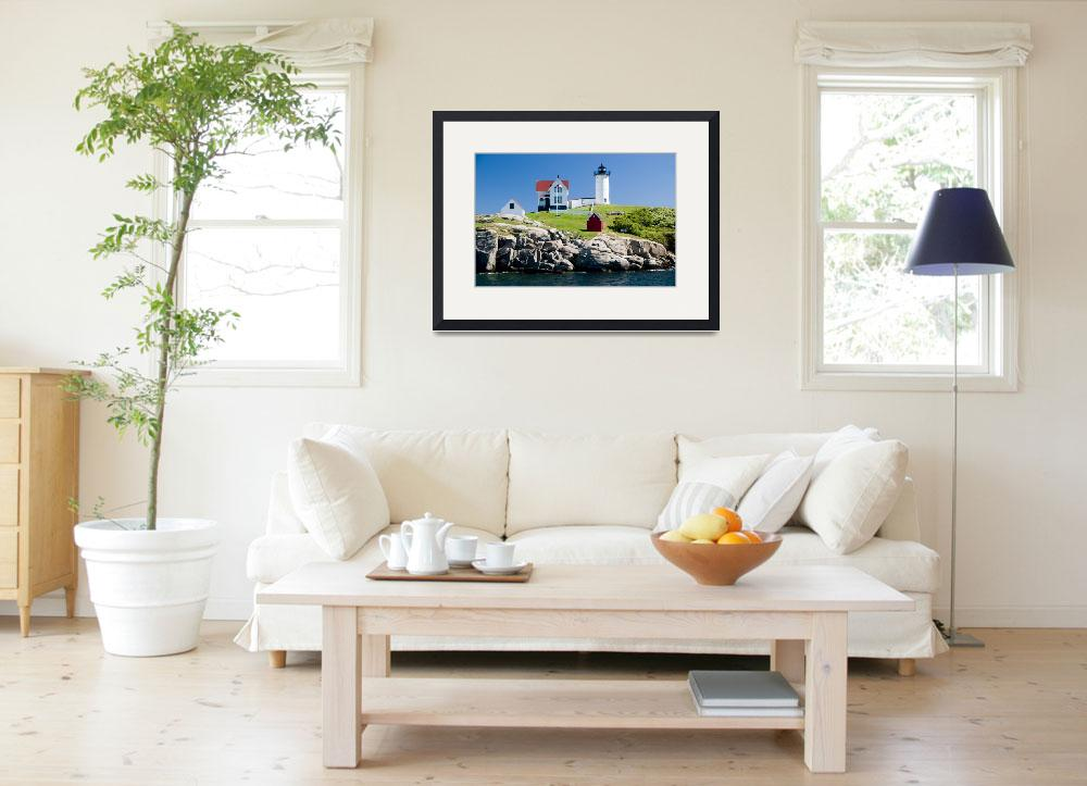 """Cape Neddick Nubble Lighthouse""  (2009) by aicramphoto"