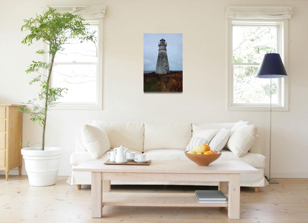"""Cape Joumain Lighthouse""  (2009) by dunklebob"