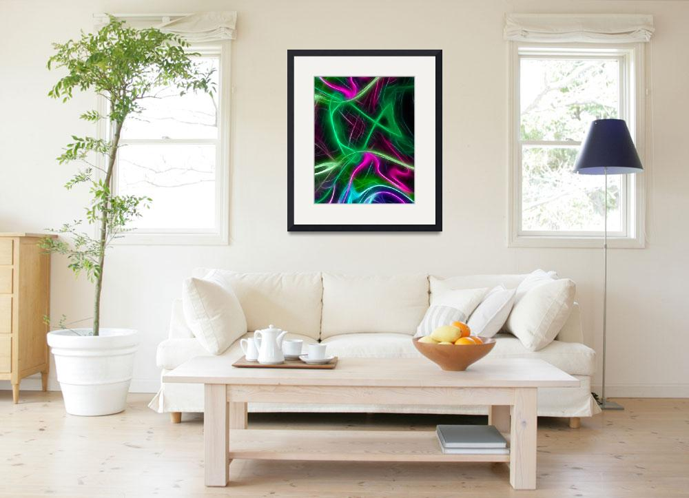 """Colorful Things Abstract art print&quot  (2017) by EdWarick"