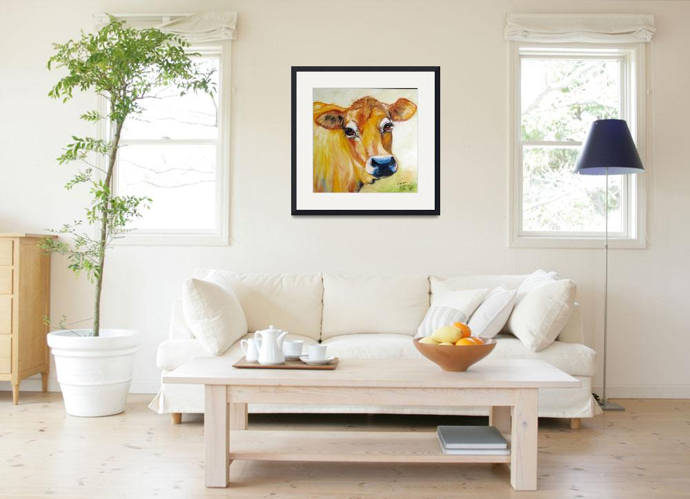 """""""THOSE EYES JERSEY COW&quot  (2009) by MBaldwinFineArt2006"""
