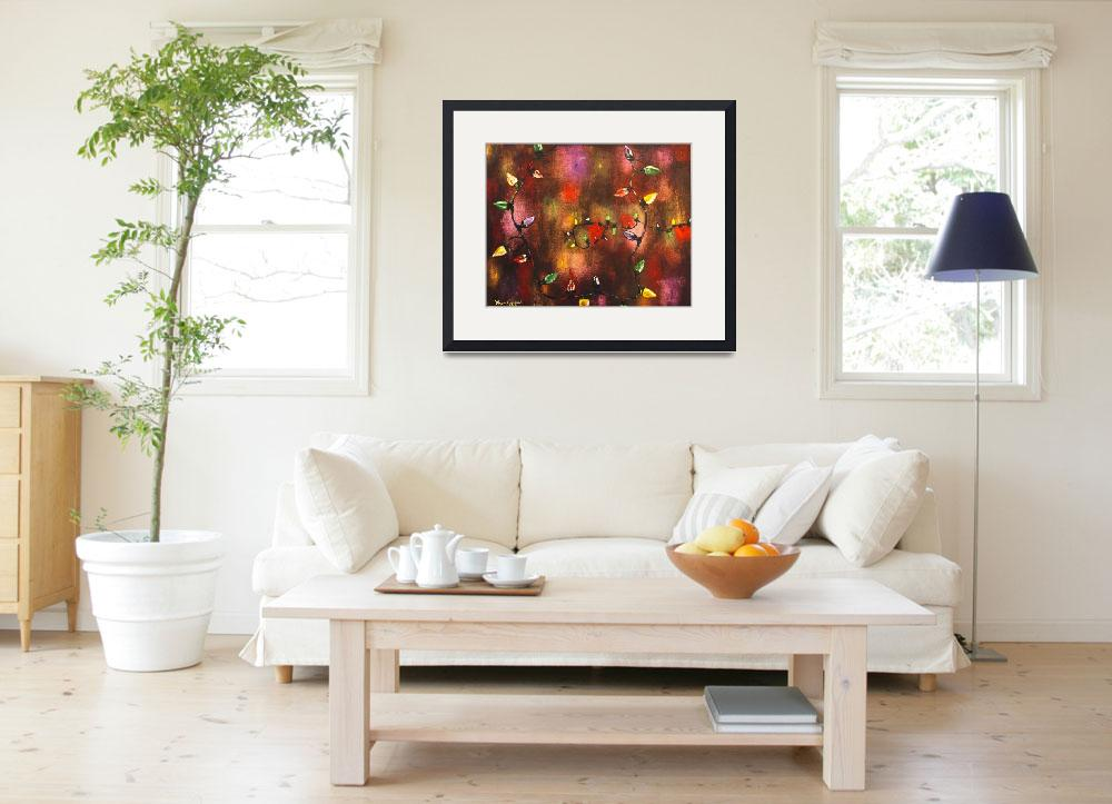 """""""Multi Colored Christmas Lights""""  (2012) by waynecantrell"""