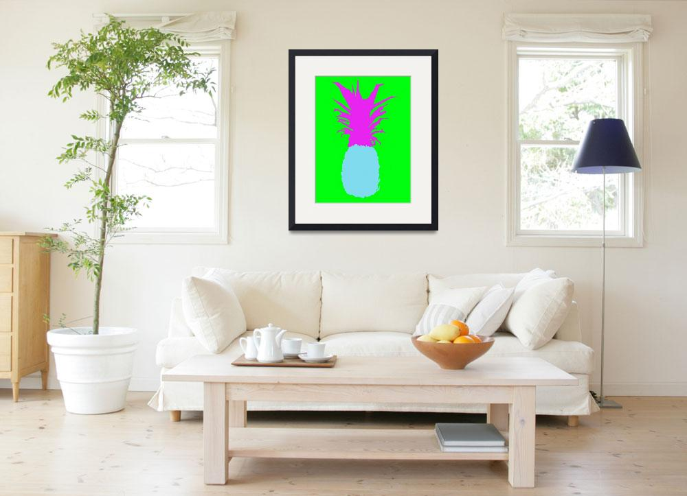 """""""Pineapple blue purple green (c)&quot  (2014) by edmarion"""