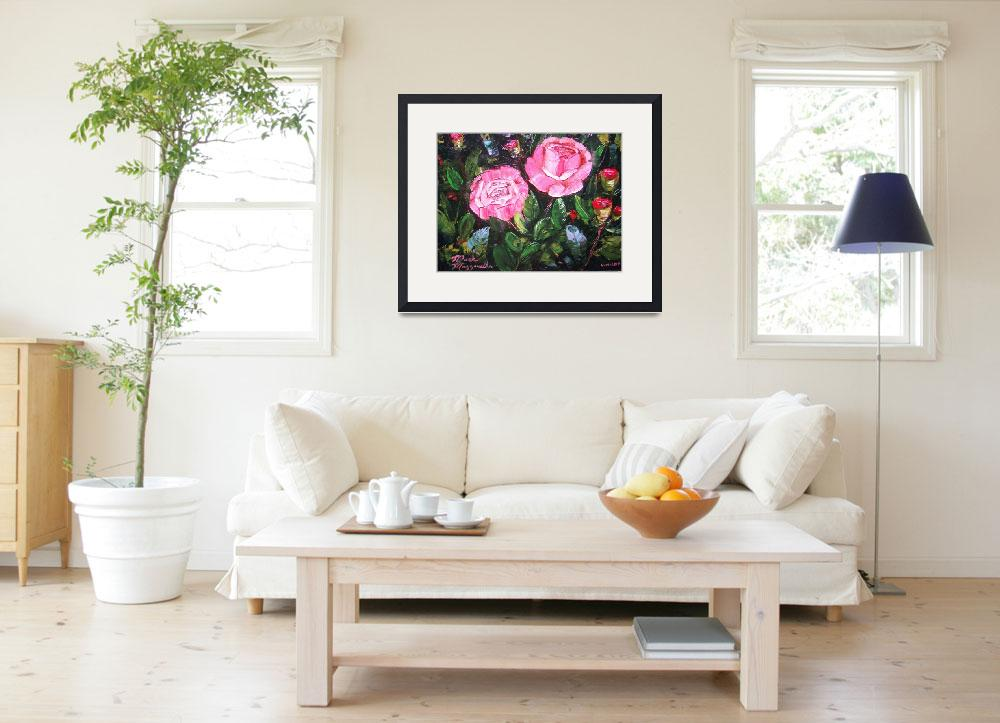 """""""Rose Bush Painting&quot  (2013) by mazz"""