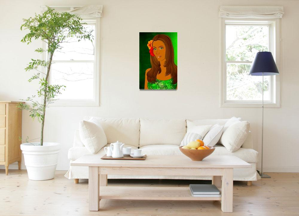 """""""Green Eyed Lady (1)&quot  (2010) by myikpix"""