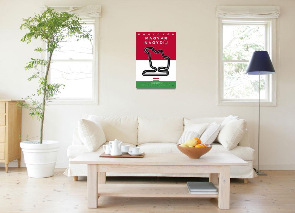 """My F1 HUNGARORING Race Track Minimal Poster""  by Chungkong"
