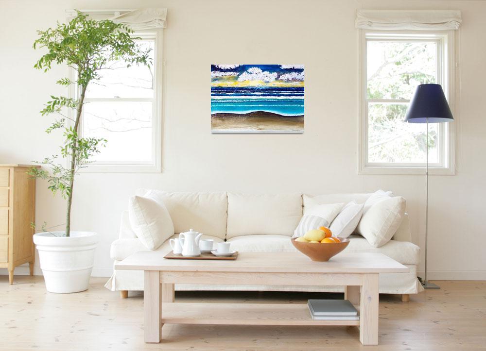 """Emerald Coast Seascape Sunrise Painting C1&quot  (2015) by Ricardos"