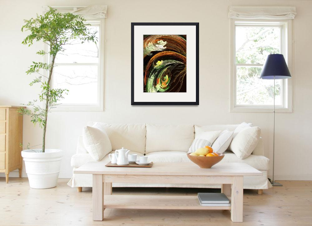 """""""Autumn Leaves Swirling Winds&quot  (2013) by susansartgallery"""