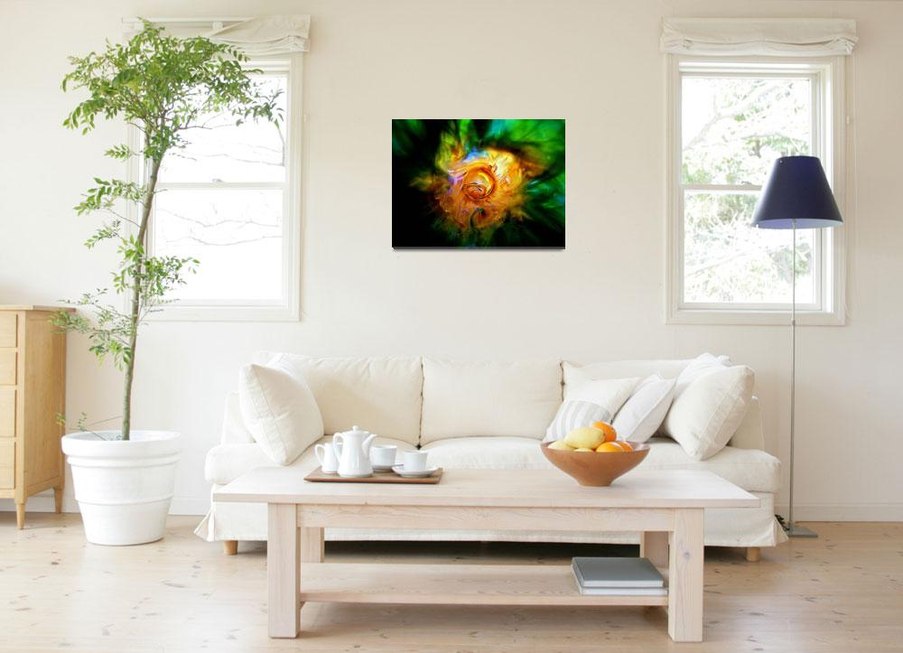 """Green Nebula""  (2004) by tgrgalleries"