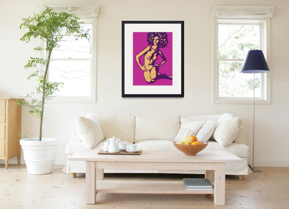 """Etching style nude pop art  poster""  (2014) by visualharbour"