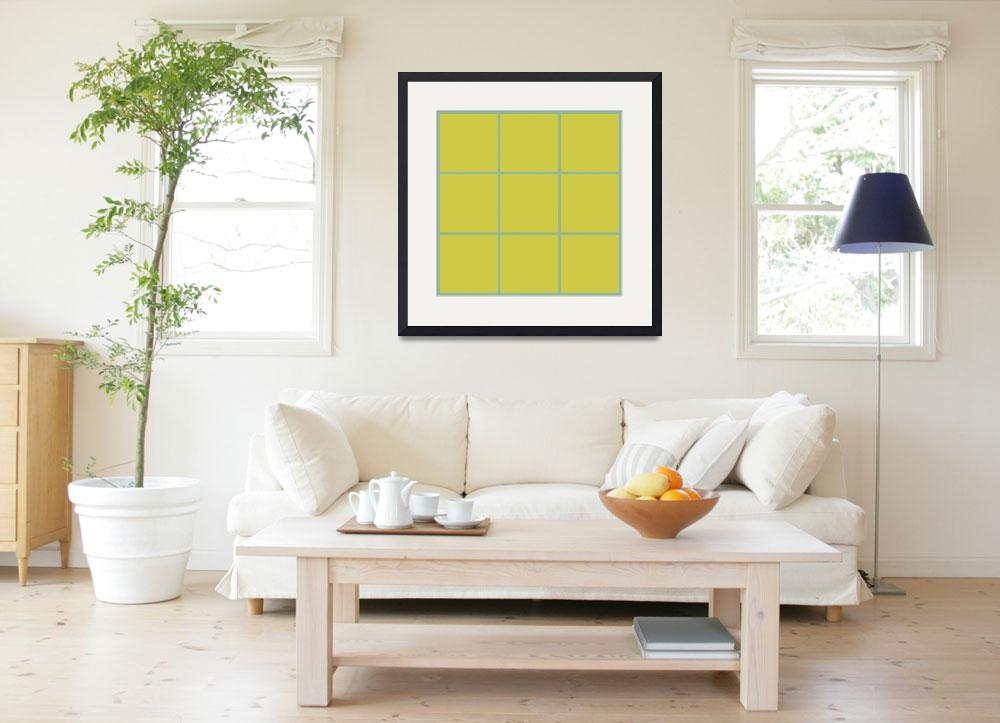 """Yellow Window 116 Canvas Contemporary Modern""  (2010) by Ricardos"