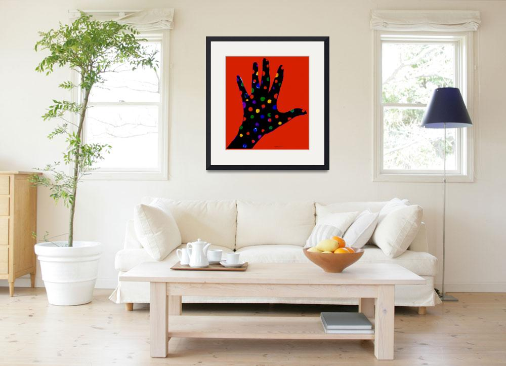 """""""Red Polka Dot Hand&quot  by ArtImagesbyLydia"""