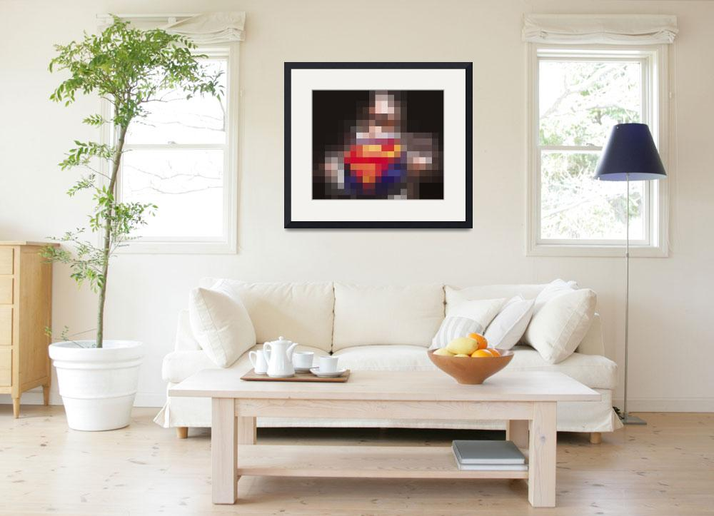 """""""Superman Orb&quot  (2013) by RubinoFineArt"""