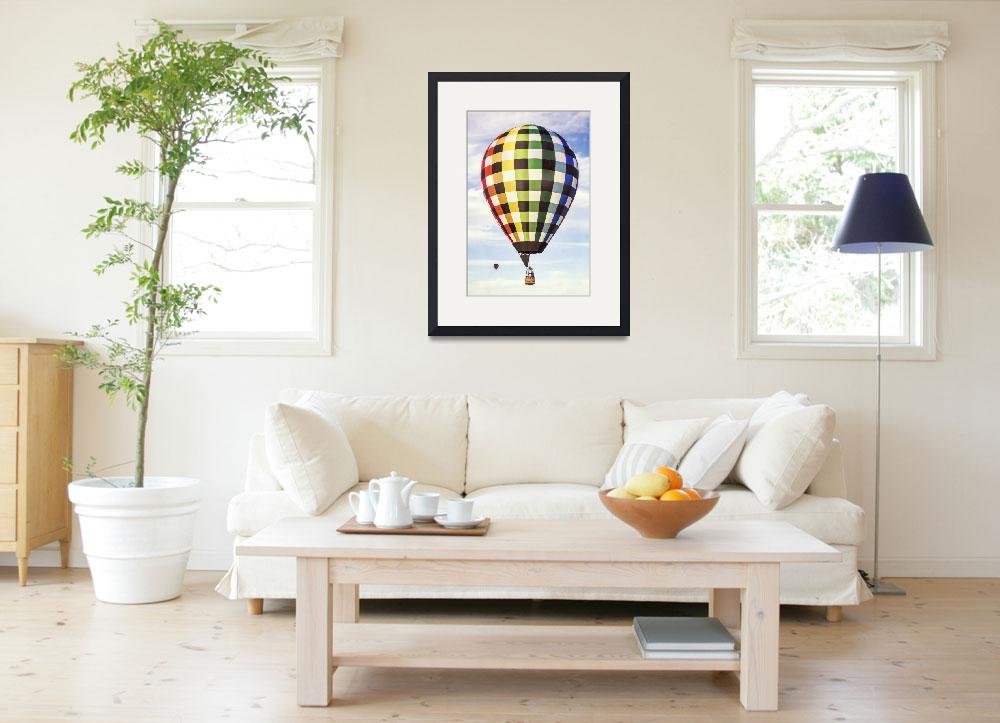 """""""Hot Air Balloon with Gingham Plaid Pattern&quot  (2013) by lillisphotography"""