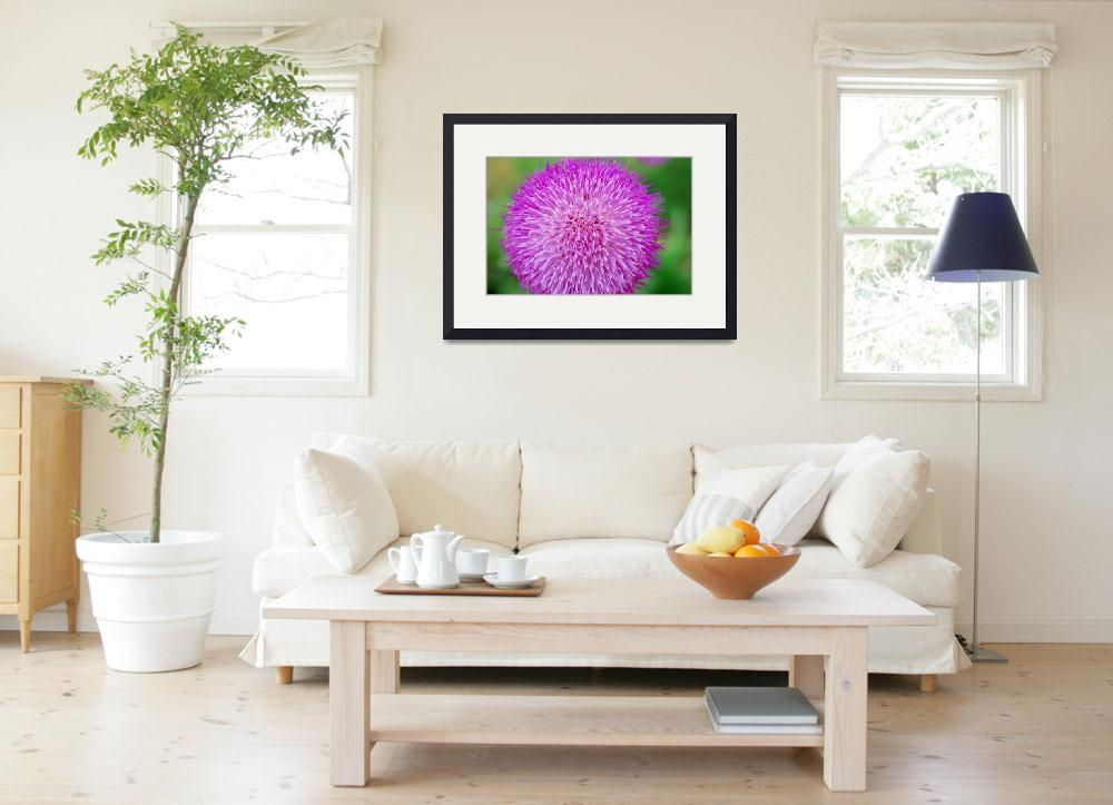 """""""purple fuzz ball with ants&quot  (2009) by imagineit"""