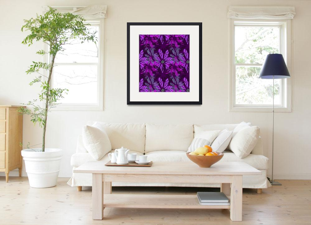 """""""Pink Flower Prints&quot  (2012) by MaryDolan"""