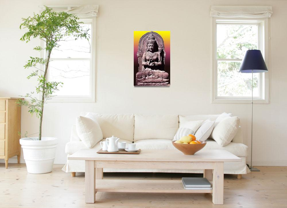 """Buddha in Lotus""  (2012) by amira"