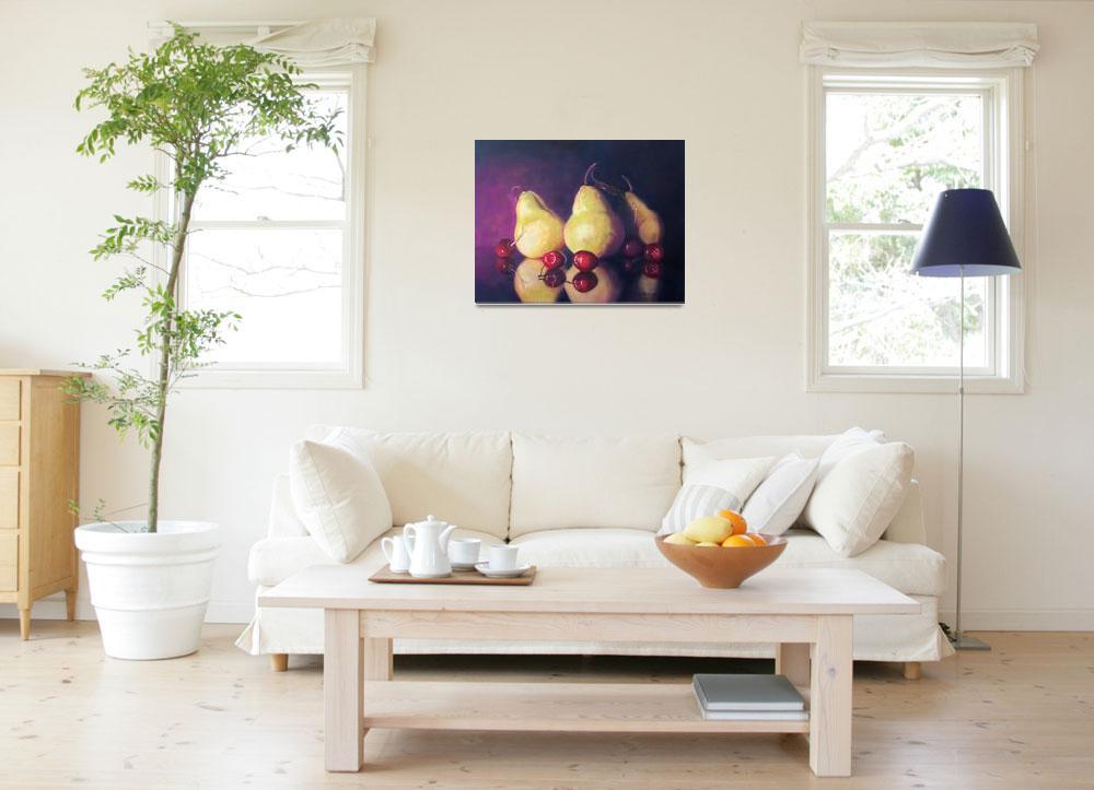 """Pears & Cherries""  (2008) by LittletonStudioPrints"