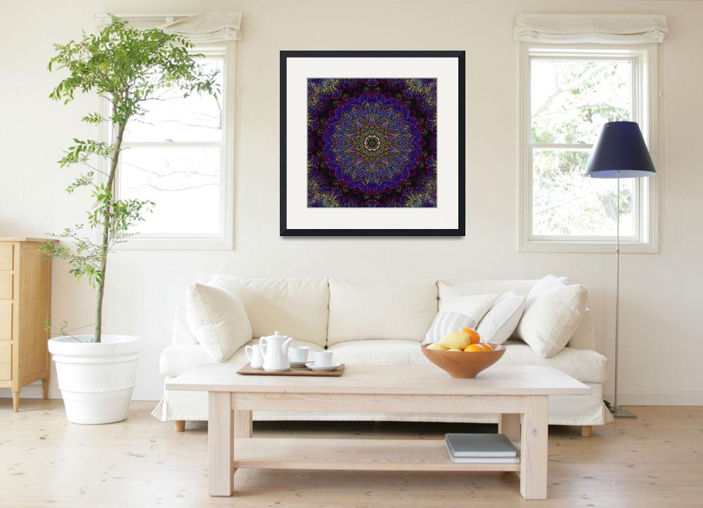 """""""Dark Purple Abstract Tile 31 Framed&quot  by bloomingvinedesign"""