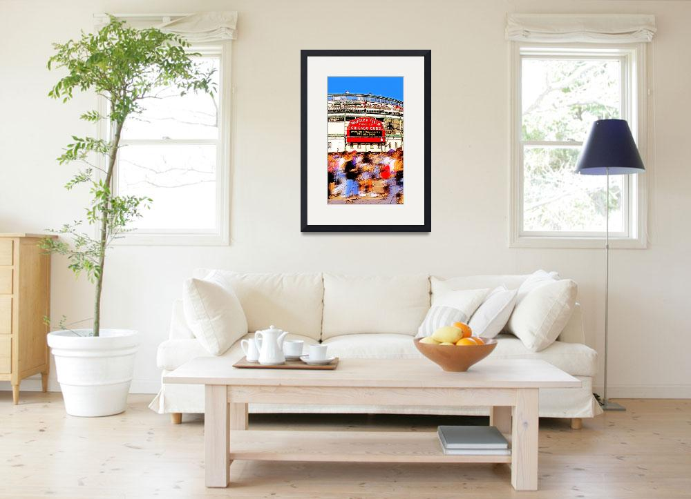 """""""wrigley field - home of chicago cubs&quot  (2005) by studiobrian"""