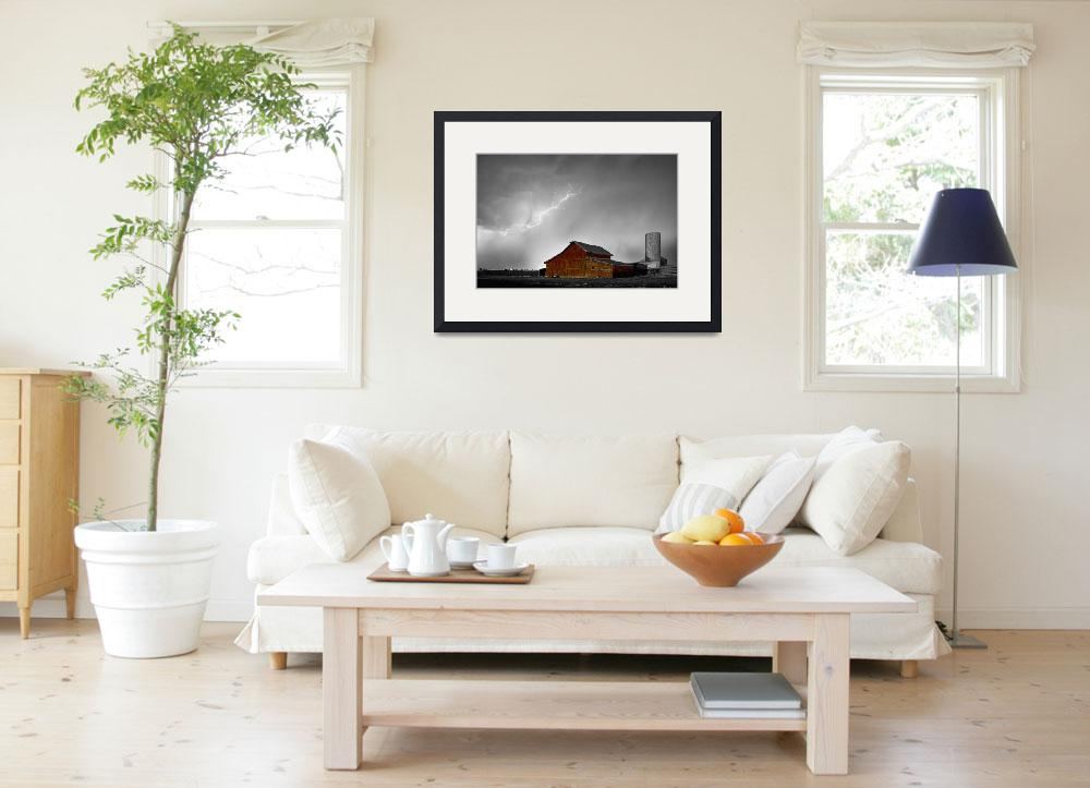 """""""Watching The Storm From The Farm BWSC&quot  (2014) by lightningman"""