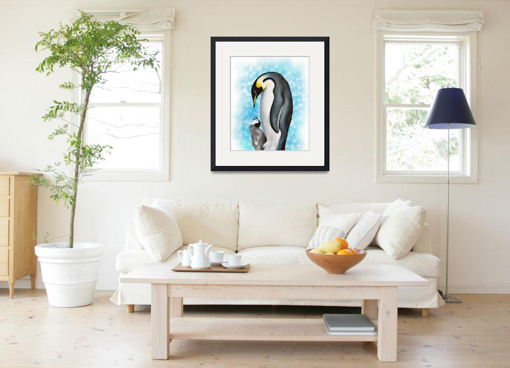 """Penguin Family&quot  (2015) by artdeep"