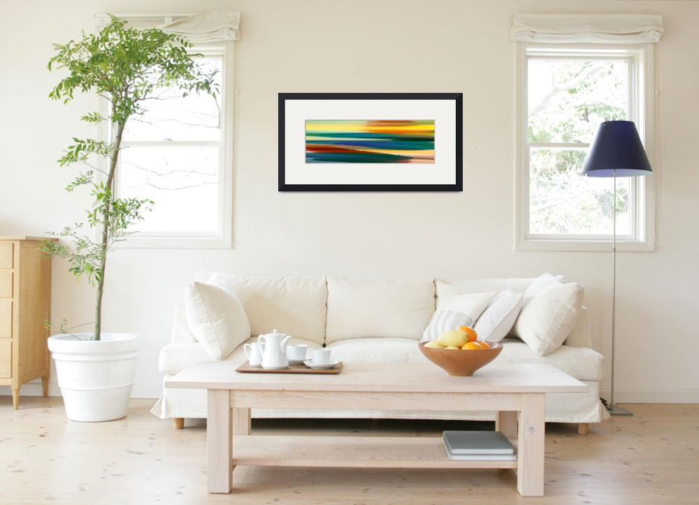 """""""Fury Seascape Panoramic 1&quot  (2013) by AmyVangsgard"""