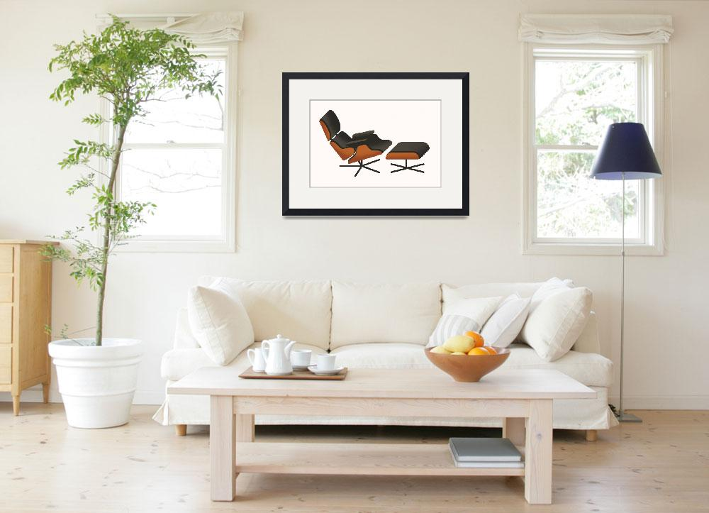 """""""Eames Lounger&quot  (2009) by jamesprovost"""