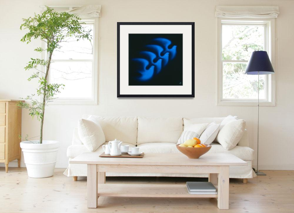 """""""Four Blue Doves&quot  by artlicensing"""