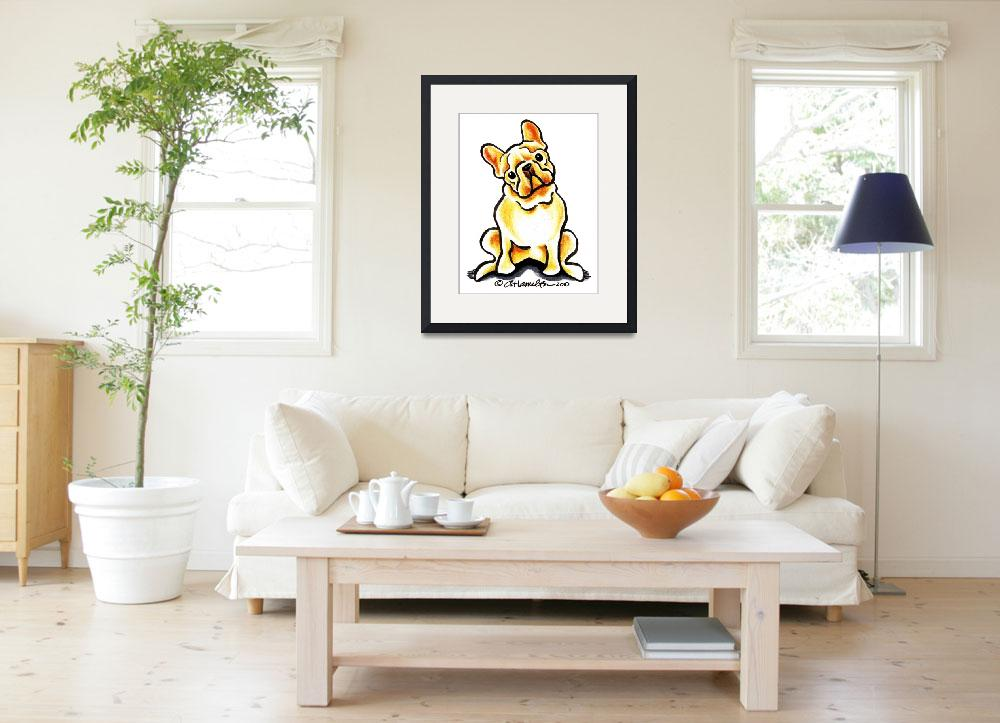 """""""Fawn Frenchie Sit Pretty&quot  (2010) by OffLeashArt"""