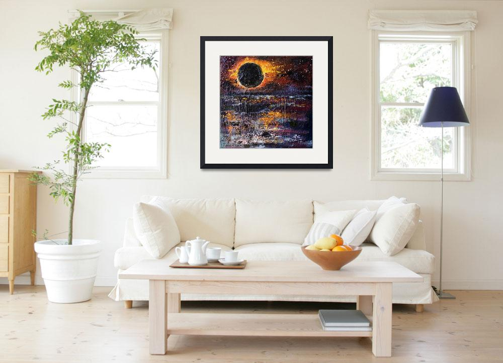 """""""Eclipse Modern Impressionist Oil Painting&quot  (2017) by GinetteCallaway"""