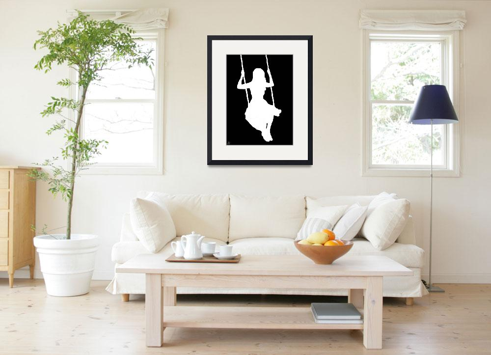 """""""On The Swing (black and white)""""  (2010) by ADDesigns"""