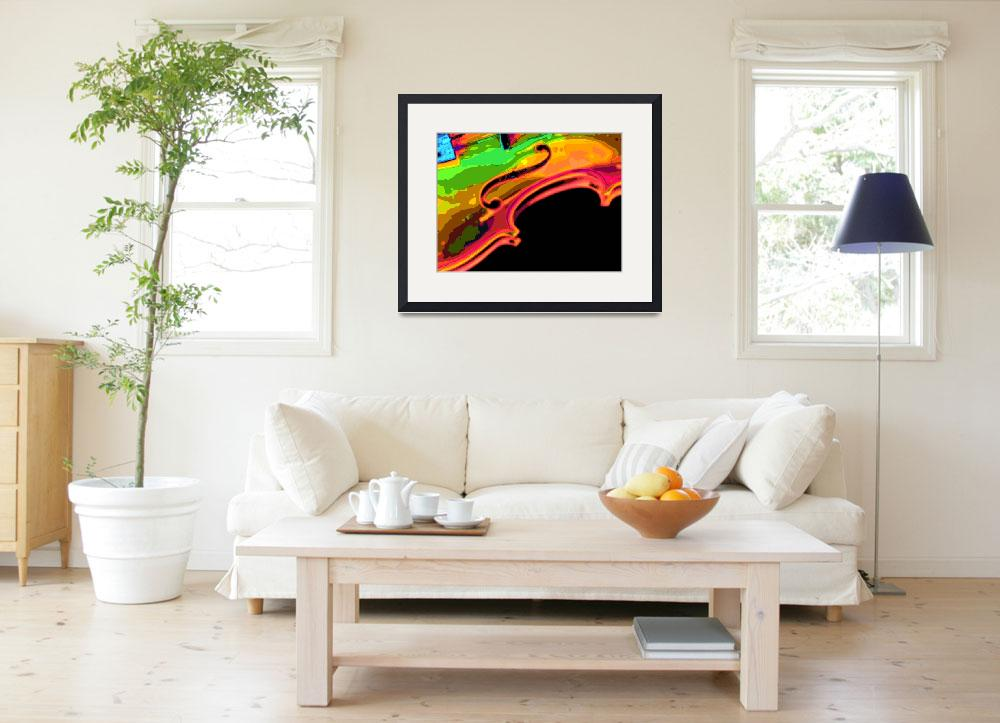 """""""bright colors violin&quot  (2008) by walbyent"""