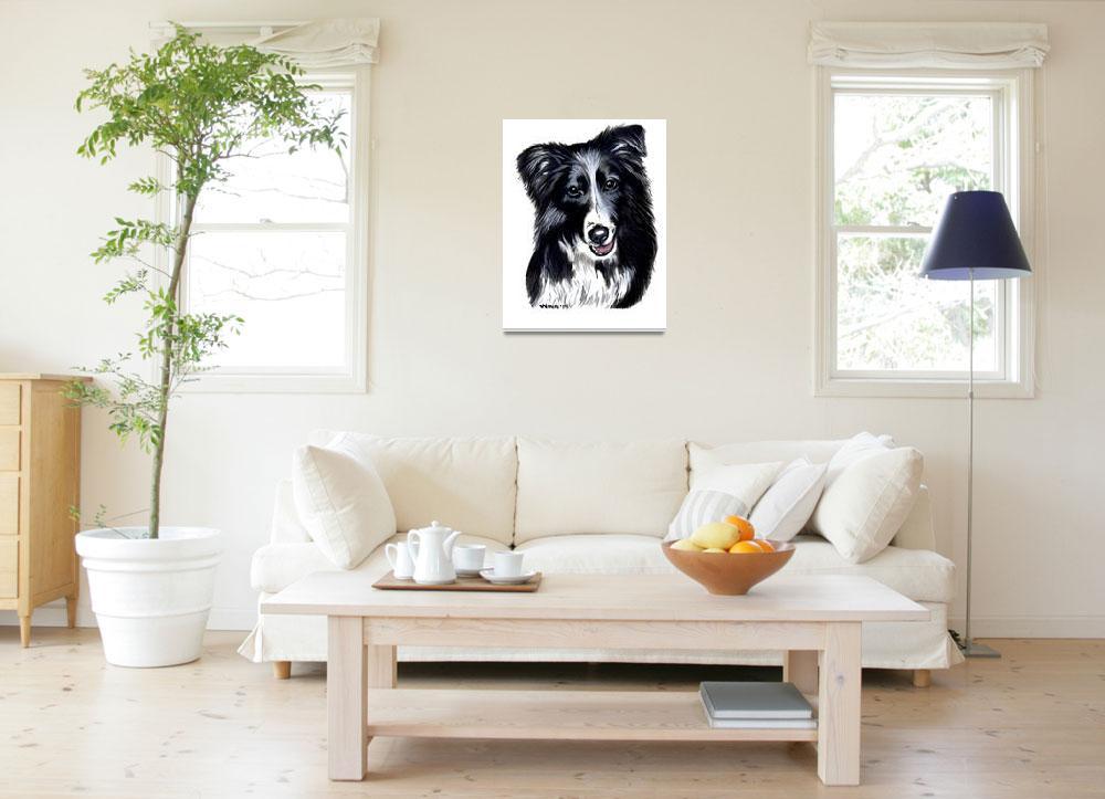 """""""Border Collie Pet Portrait - Rascal&quot  (2014) by PennyWinn"""