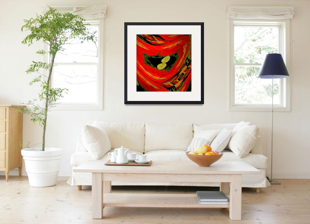 """""""Nasturtium abstract&quot  by Kirby"""