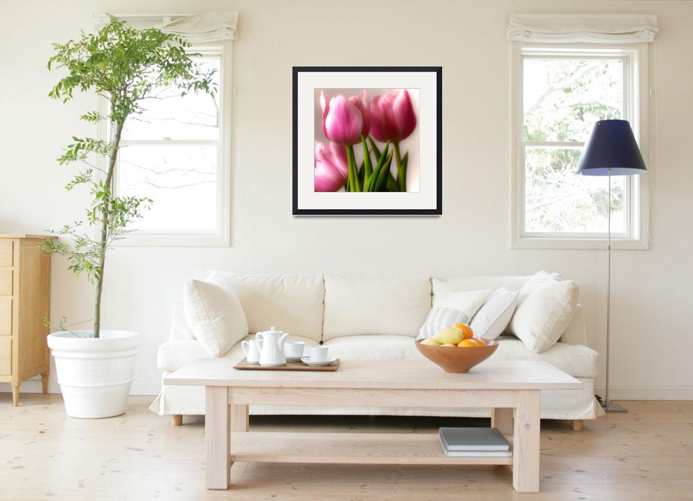 """""""Pink Tulips""""  (2012) by LJdesigns"""