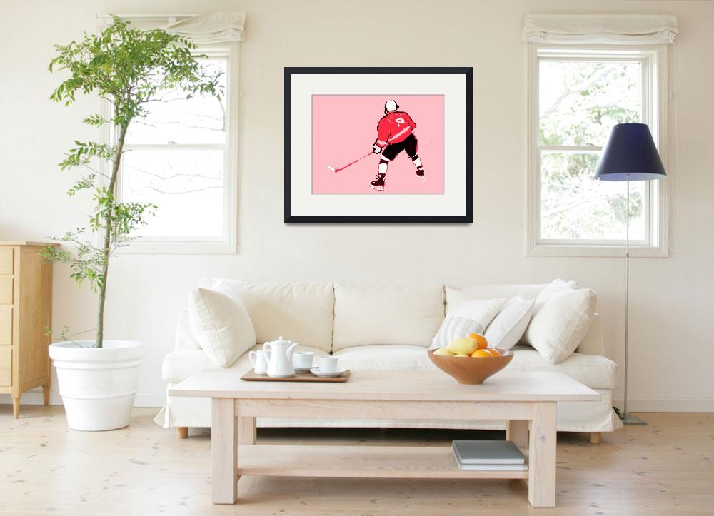 """""""Hockey Center pink gray red black (c)""""  (2014) by edmarion"""